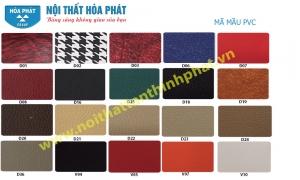 Bảng mầu da và PVC nội thất hòa phát