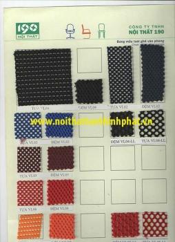 Mẫu màu vải lưới nội thất 190