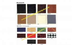 Mẫu mầu da Và PVC nội thất 190