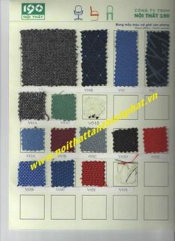 Mẫu màu vải Nỉ nội thất 190